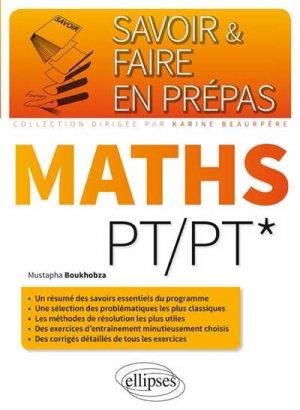 Mathématiques PT - ellipses - 9782340006508