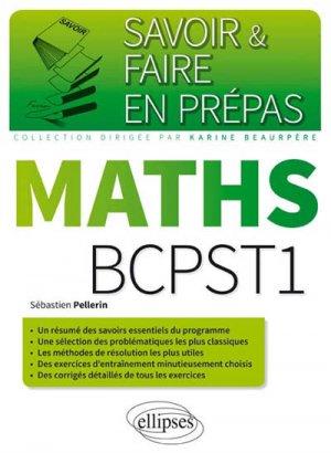 Mathématiques BCPST-1 - ellipses - 9782340006683
