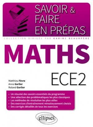 Mathématiques ECE2 - ellipses - 9782340009103