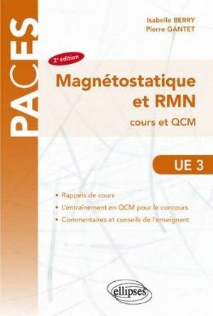Magnéostatique et RMN UE3 - ellipses - 9782340013766 -
