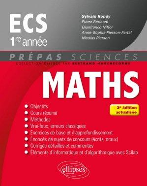Maths ECS 1re année - ellipses - 9782340016460 -