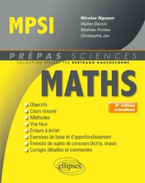 Mathématiques MPSI - ellipses - 9782340019263 -