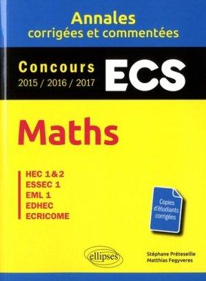 Maths ESC - ellipses - 9782340019508 -