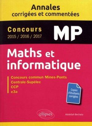 Maths et informatique MP - ellipses - 9782340019935 -