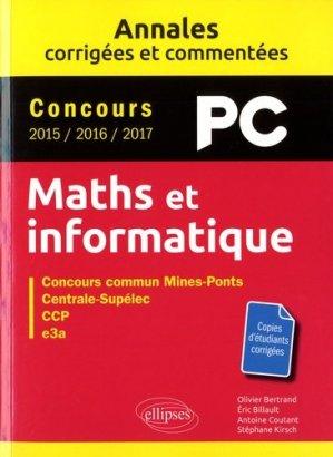 Maths et informatique, PC - ellipses - 9782340019942 -