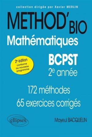 Mathématiques BCPST -2e année - ellipses - 9782340028203