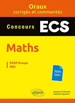 Mathématiques prépas ECS - ellipses - 9782340028814 -