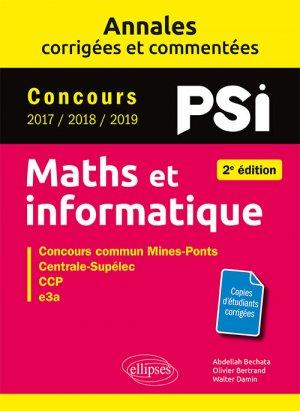Maths et informatique PSI - ellipses - 9782340032866 -