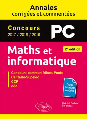 Maths et informatique PC - ellipses - 9782340032873 -