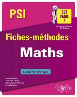 Maths PSI - ellipses - 9782340033306 -
