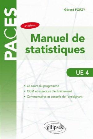Manuel de statistiques UE4 - ellipses - 9782340034273 -
