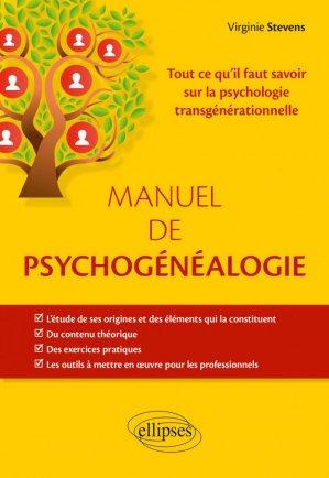 Manuel de psychogénéalogie - ellipses - 9782340038721 -