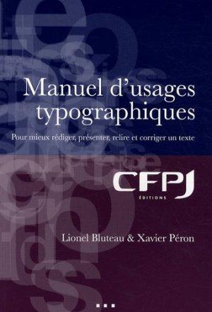 Manuel d'usages typographiques - cfpj - 9782353070206 -