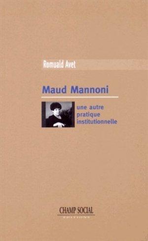 Maud Mannoni - champ social - 9782353717170 -