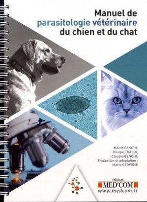 Manuel de parasitologie vétérinaire du chien et du chat - med'com - 9782354032531 -