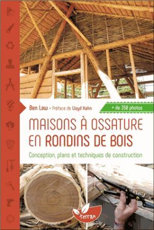 Maisons a ossature en rondins de bois - de terran - 9782359810820 -