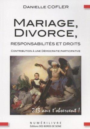 Mariage, divorce, responsabilités et droits - Numerilivre - 9782366320718 -