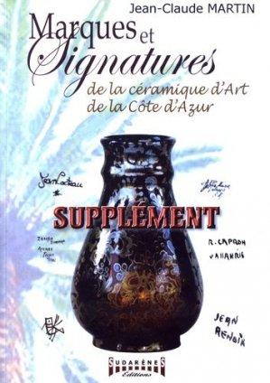 Marques et signatures de la céramique d'art de la Côte-d'Azur - sudarènes - 9782374640341 -