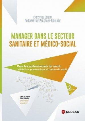 Manager dans le secteur sanitaire et médico-social - gereso - 9782378903398 -