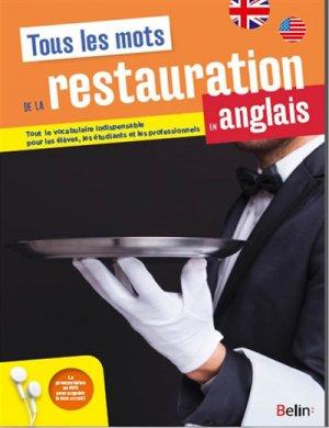Maitriser tous les mots de la restauration en anglais-belin-9782410000764