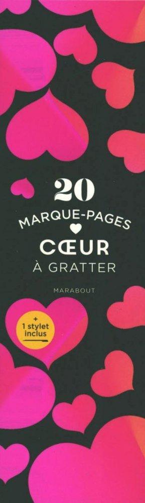 Marque-pages à gratter Coeurs - Marabout - 9782501160452 -