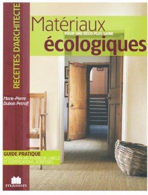 Matériaux Écologiques - massin - 9782707206244 -