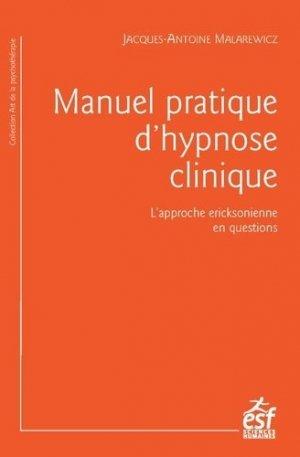 Manuel d'hypnose clinique - esf - 9782710134626 -