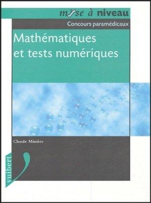 Mathématiques et tests numériques - vuibert - 9782711797226 -