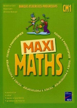 Maxi maths CM1 - Retz - 9782725623702 -