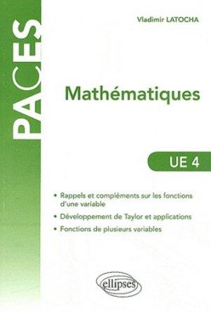 Mathématiques UE4 - ellipses - 9782729865092 - mathématique, biostatistique