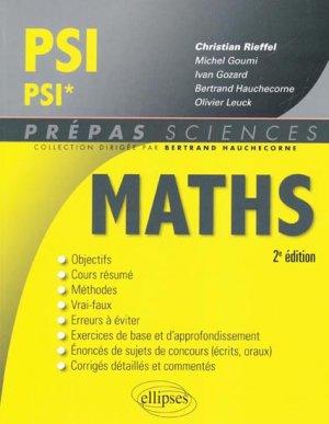Maths PSI PSI* - ellipses - 9782729865917 -