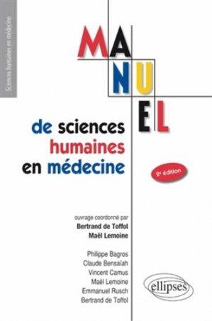 Manuel de sciences humaines en médecine - ellipses - 9782729878658 -