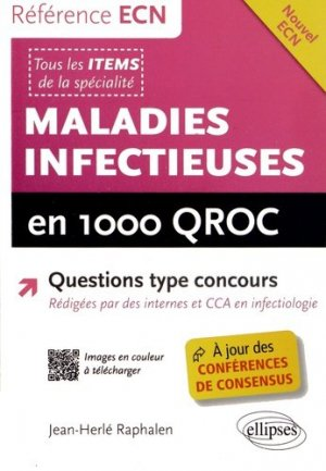 Maladies infectieuses en 1000 QROC - ellipses - 9782729884192 -