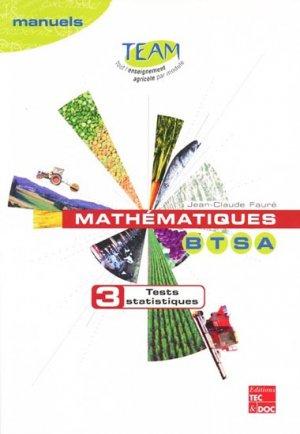 Mathématiques BTSA 3 - lavoisier / tec et doc - 9782743004279 -