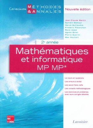 Mathématiques et informatique MP MP* 2ème année - lavoisier / tec et doc - 9782743011505 -