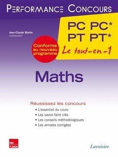 Maths PC PC* - PT PT* 2ème année - lavoisier / tec et doc - 9782743015961 -