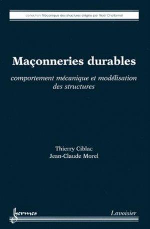 Maçonneries durables - hermès / lavoisier - 9782746239210 -