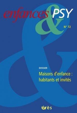 Maisons d'enfance : habitants et invités - eres - 9782749254296 - majbook ème édition, majbook 1ère édition, livre ecn major, livre ecn, fiche ecn