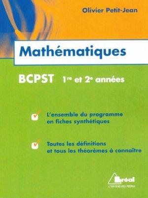 Mathématiques BCPST 1re et 2e années - breal - 9782749530031 -