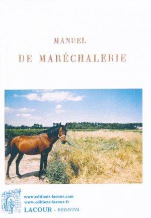 Manuel de maréchalerie - lacour - 9782750431037 -