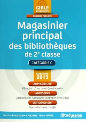 Magasinier principal des bibliothèques de 2e classe - Studyrama - 9782759026098 -