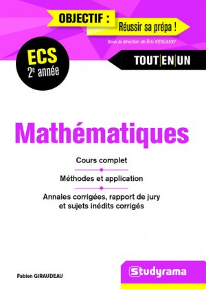 Mathématiques 2e année ECS - studyrama - 9782759034352 -