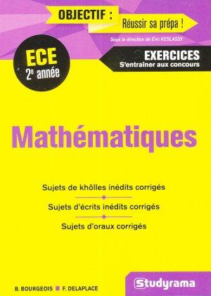Mathématiques - ECE 2e année - studyrama - 9782759036493 -