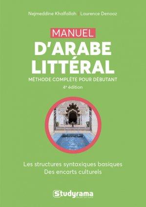 Manuel d'arabe littéral - studyrama - 9782759037834 -