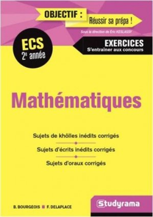 Maths 2e année ECS - Studyrama - 9782759038923