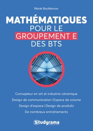Mathématiques pour les BTS groupement E - Studyrama - 9782759040926 -