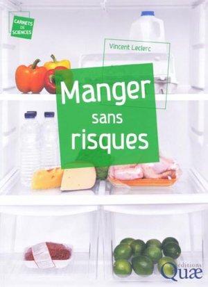 Manger sans risques - quae  - 9782759210435 -