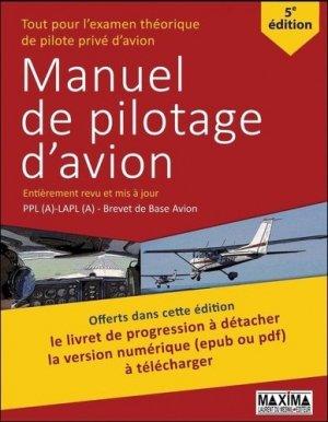 Manuel de pilotage d'avion - maxima - 9782840018797