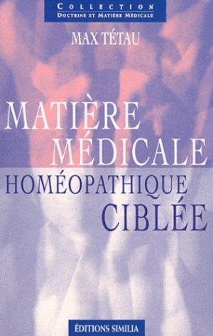 Matière médicale homéopathique ciblée - similia - 9782842510565