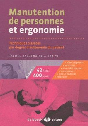 Manutention de personnes et ergonomie - estem - 9782843715068 -